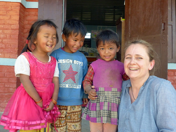 Gaby Jackson, UVEX in Nepal für Vision for the World